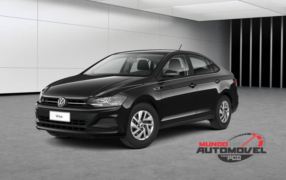 cbc90c7b0 O Volkswagen Virtus Sense conta com a motorização 1.6 MSI de até 117 cv. O  modelo é equipado com a já conhecida transmissão automática de seis marchas.