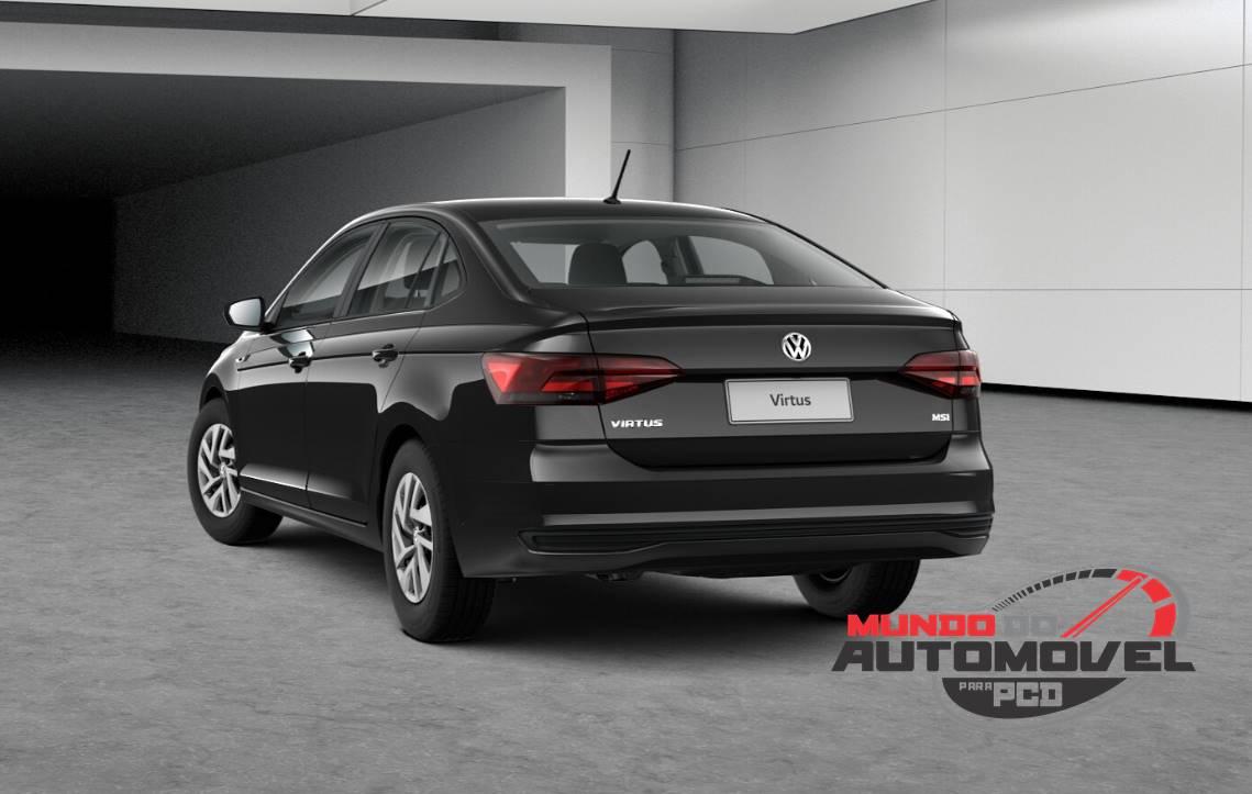 539822f72 O Volkswagen Virtus Sense se difere do Polo Sense apenas ...
