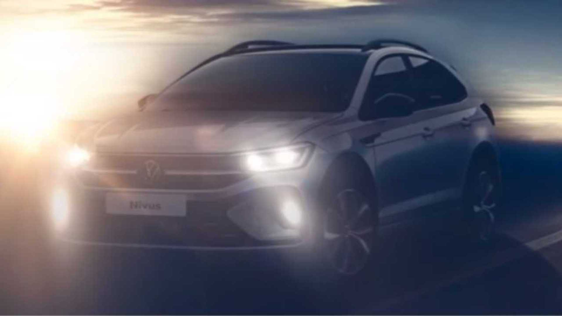 Teaser revela a frente do Volkswagen Nivus
