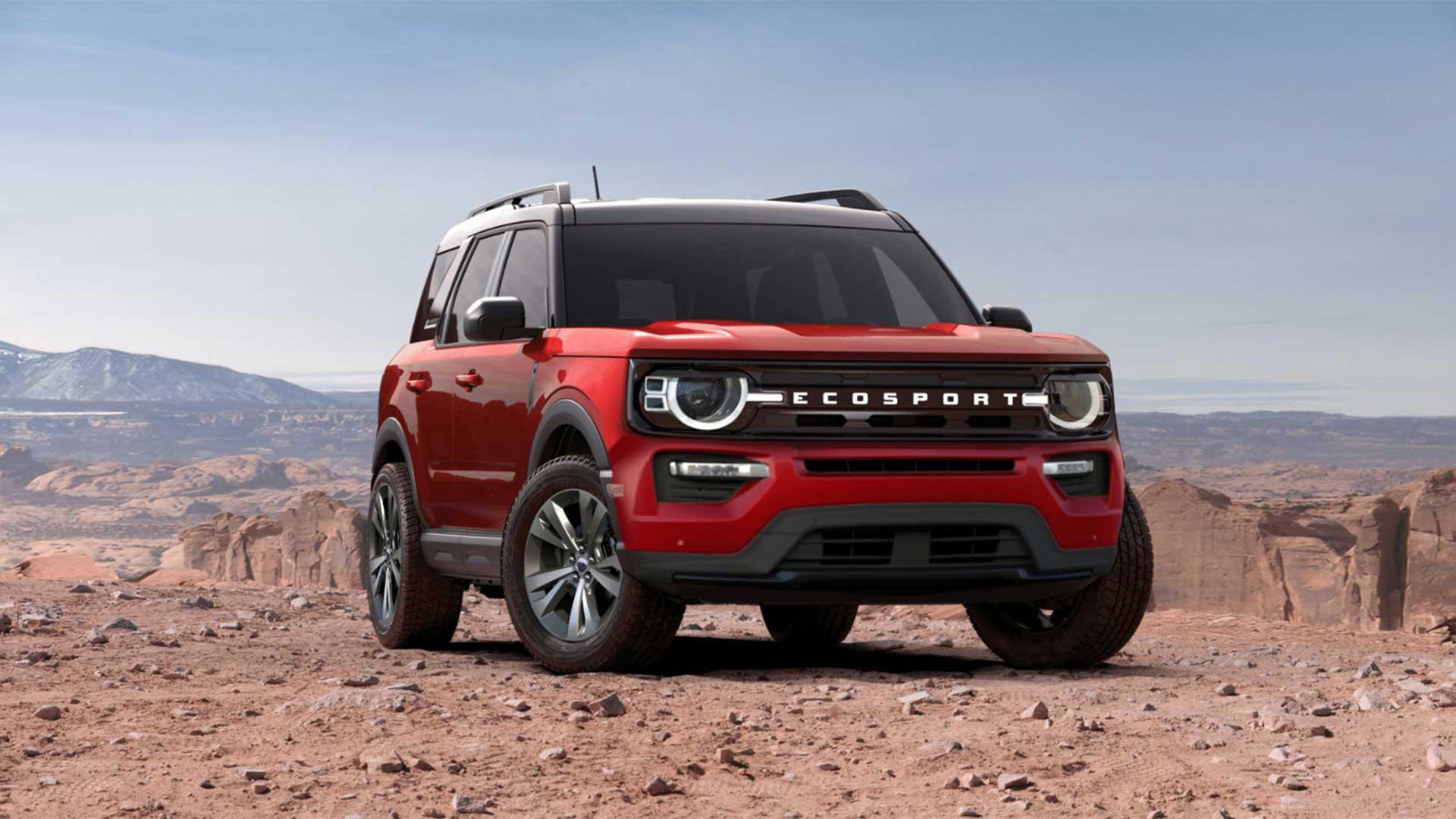 Projeção propõe EcoSport com visual inspirado no Ford Bronco Sport