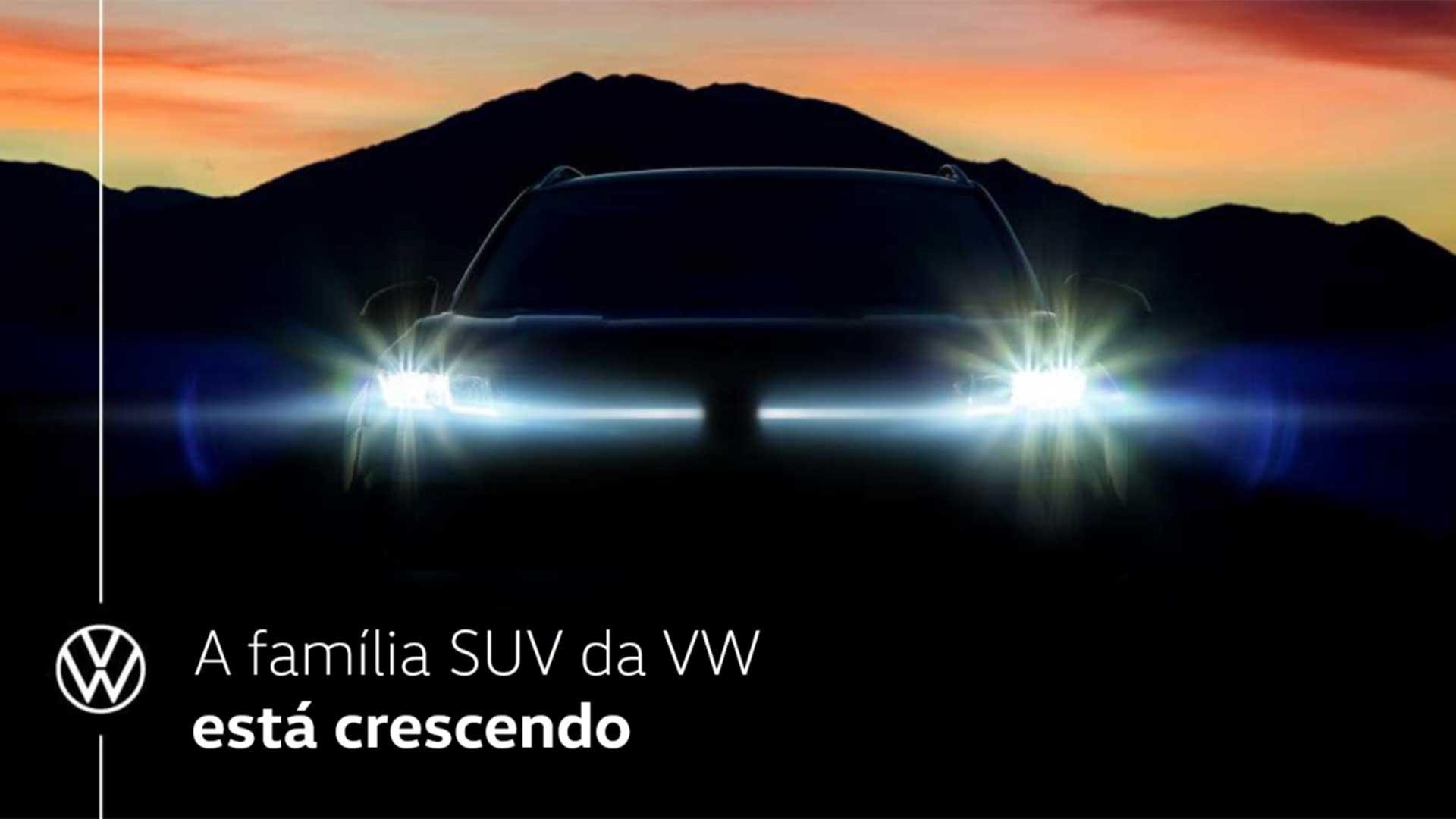 Projeto Tarek: VW divulga primeiro Teaser de seu novo SUV