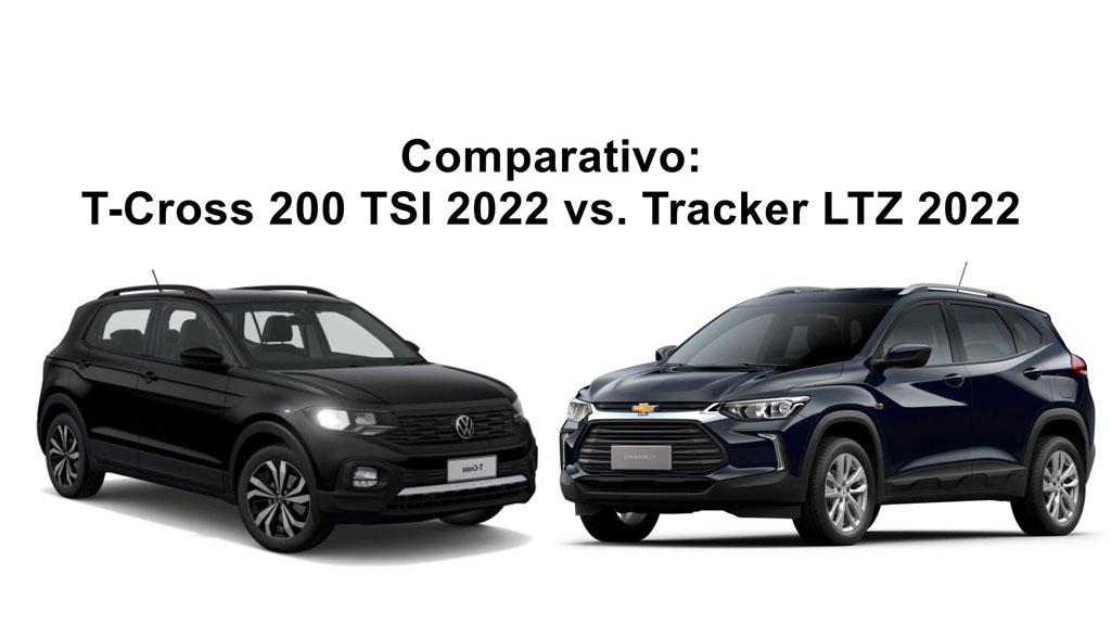Comparativo T-Cross 200 TSI 2022 vs Tracker LTZ 2022